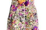 Trägerloses Minikleid mit buntem All-Over-Blumenprint von H&M, um 34,90 Euro.