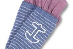 Gestreifte Kombi aus Pulswärmern und Handschuhen, auch unabhängig voneinander tragbar. Von Billabong, ca. 29,99 Euro. Zu Bestellen über www.frontlineshop.com