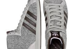 Tweed-Schuh in stylischem Grau von Adidas, um 80 Euro. Über  www.frontlineshop.com.