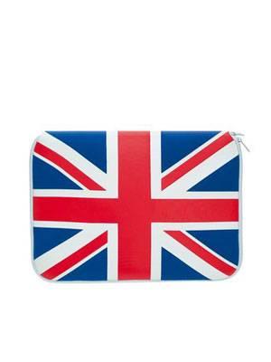 """Brit-Chic für den 11""""-Laptop: Case von Pat Sais Now, um 30 Euro. Über OTTO."""
