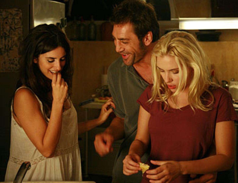 Die flotten Drei: Maria Elena (Penélope Cruz), Juan Antonio (Javier Bardem) und Christina (Scarlett Johansson)