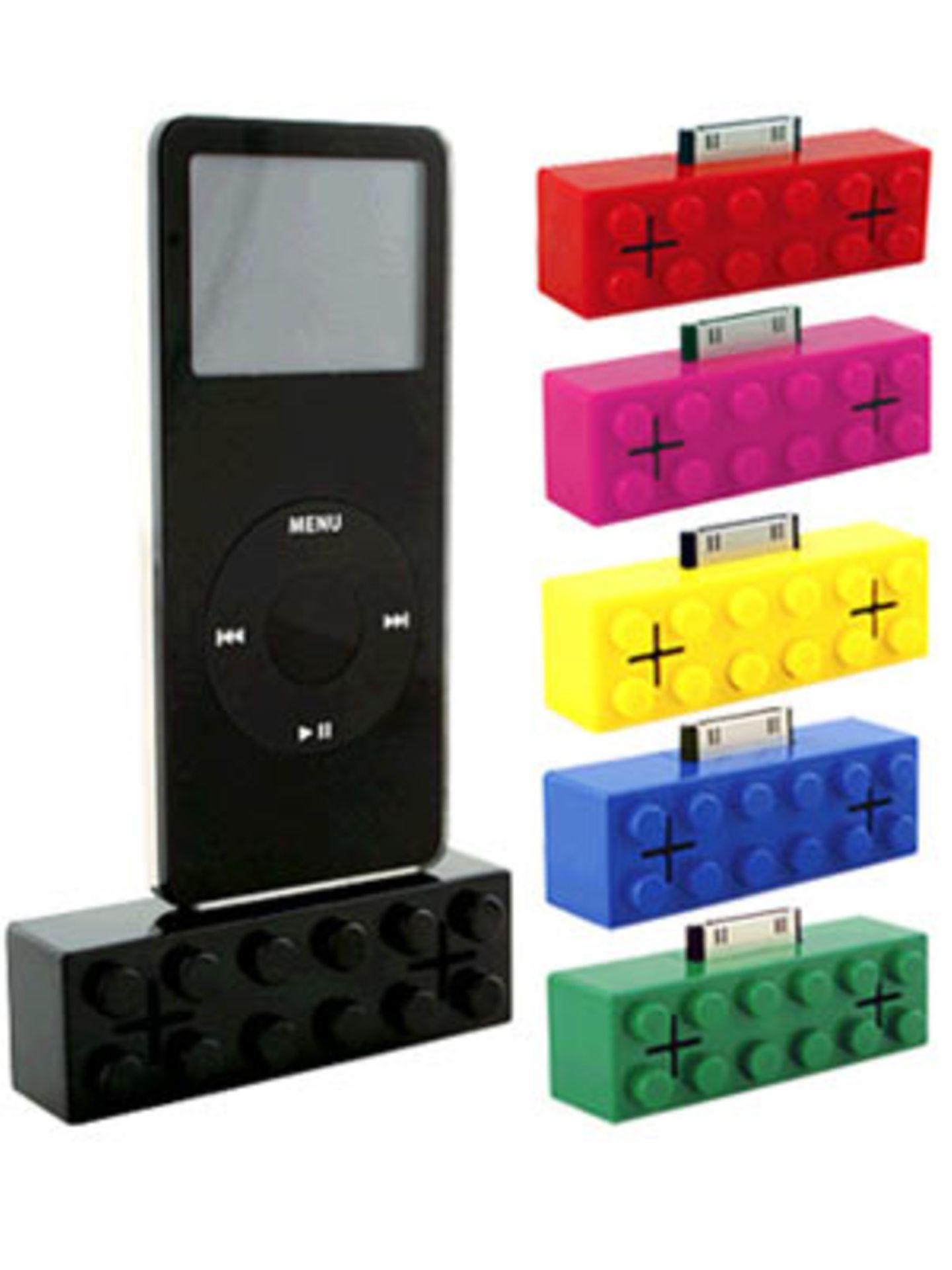 Retro-Lautsprecher für den iPod von fredflare.com, um 30 Euro.