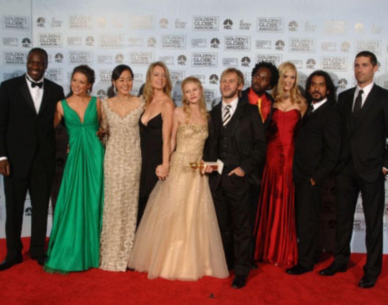 """Gar nicht verloren wirkten die """"Lost""""-Schauspieler, als sie mit ihrem Golden Globe posierten"""