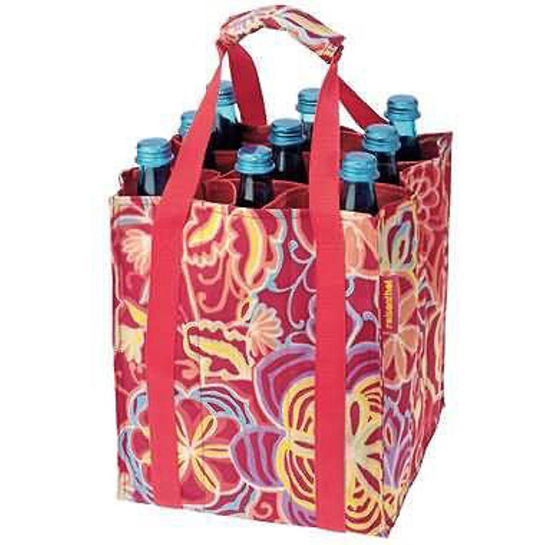 Bottle in the bag    Nichts sieht so chaotisch aus, wie ein Haufen Altglas und Pfandflaschen unterm Küchentisch. Um Ordnung in die Flaschensammlung zu bekommen, darf die bottlebag in keinem guten WG-Haushalt fehlen. In der Tasche lassen sich neun Flaschen bis zur großen 1,5 Liter-Klasse kompakt, sicher und komfortabel transportieren - ganz ohne Geklapper. Bestens auch geeignet für den Weg zum Glascontainer. Maße: 24 x 24 x 28 cm. Für 4,95 Euro zzgl. Versandkosten in floralem Design unter >> www.design-3000.de