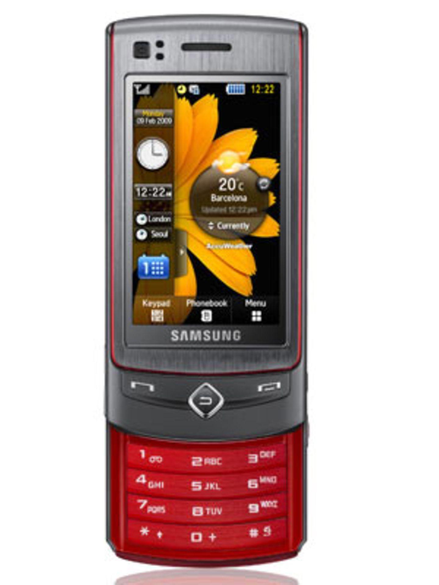 """""""Samsung Ultra Touch"""" Kompakt und edel wirkt das Ultra Touch Sliderhandy von Samsung. Das metallicfarbene Slider-Handy besitzt einen 2,8"""" Touchscreen-Display mit 16 Millionen Farben. Um 320 Euro ohne Vertrag."""