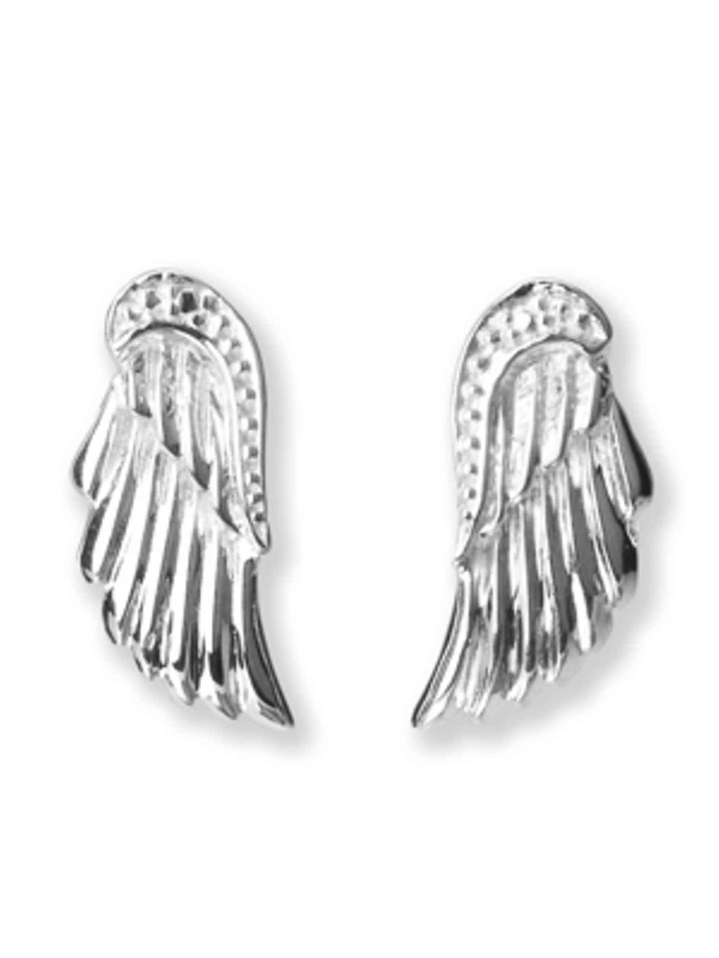 Silberohrringe in Engelsflügel-Form von Heartbreaker, um 40 Euro.