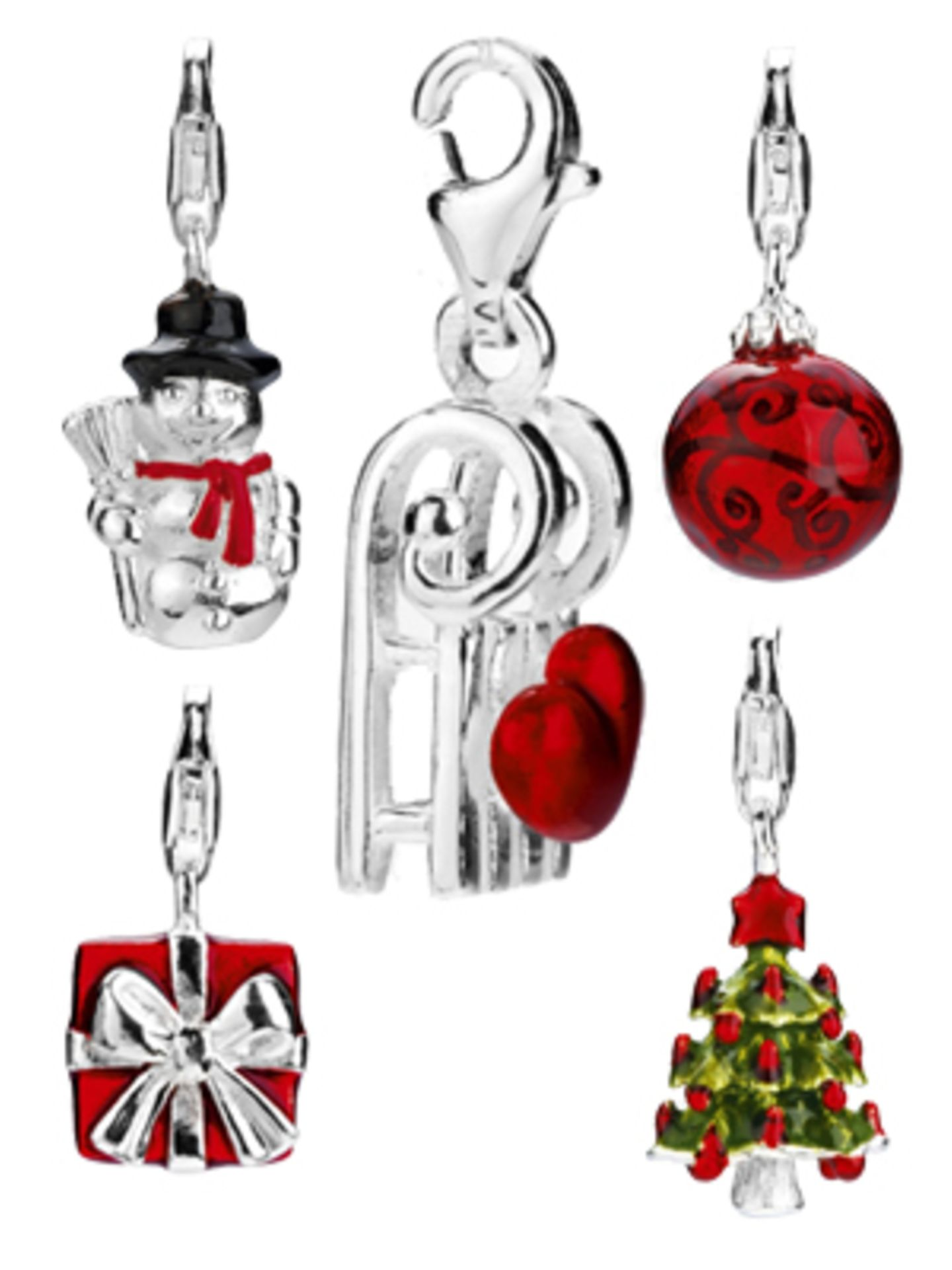 Weihnachtliche Charms von Heartbreaker. Lisa bekommt den Schneemann, Karin den Schlitten und Ulla geben wir die Weihnachtskugel... Ab 33 Euro.