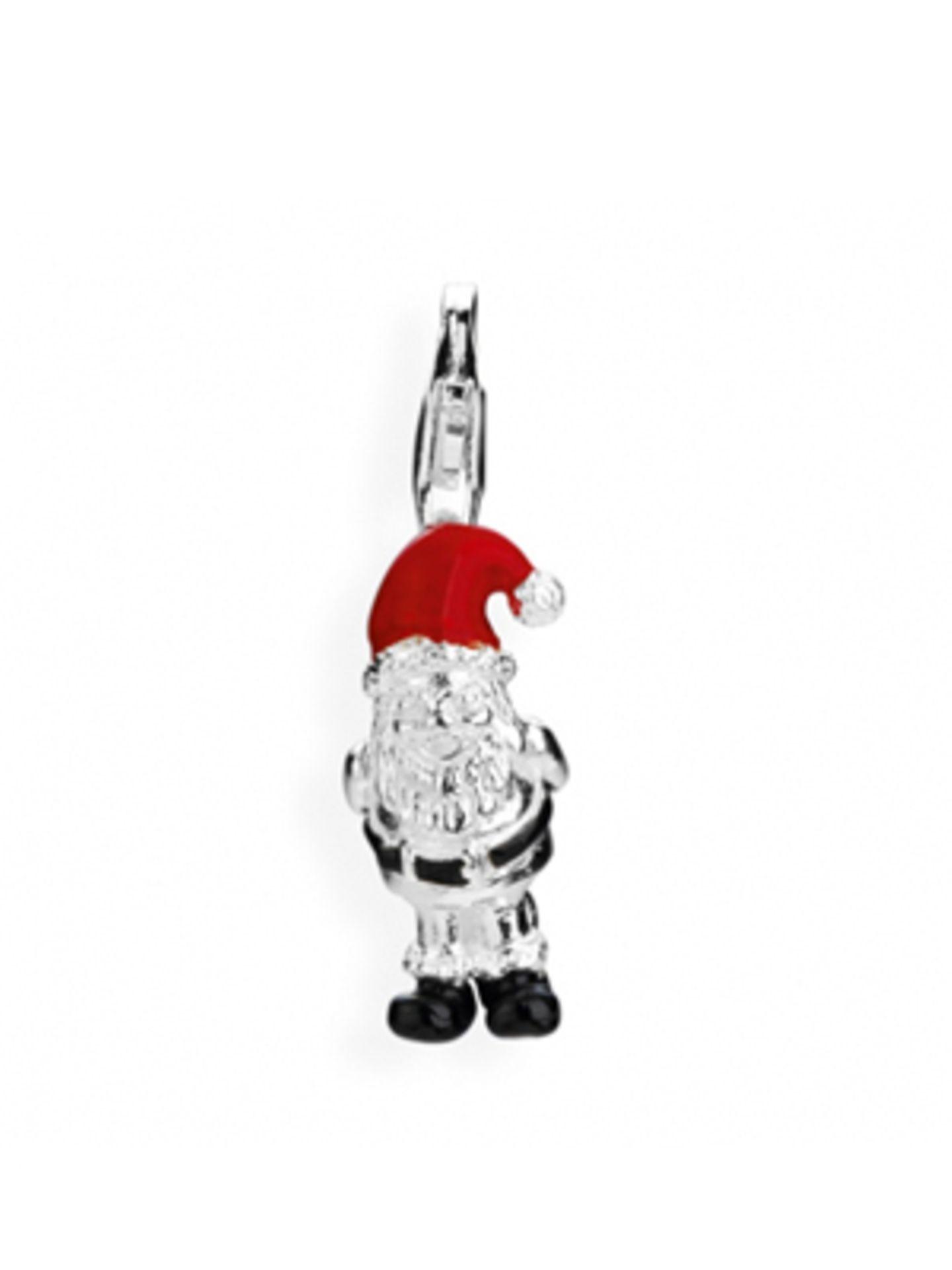 Nikolausanhänger aus Sterling Silber mit roter Mütze für's Charm-Kettchen von Heartbreaker, um 44 Euro.