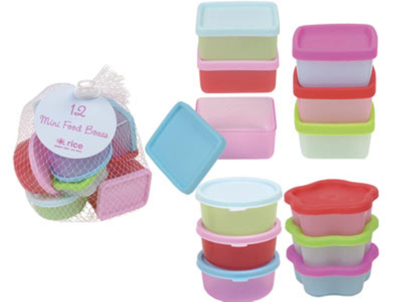 Wenn's etwas weniger sein darf: kleine Food-Boxen für Salatdressings, Nüsse oder Lakritze von Bertine, um 6 Euro (im Zweier-Set).  Über www.bertine.de