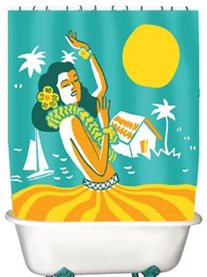 Hula Girl    Na, wenn mit diesem Duschvorhang keine Urlaubsstimmung aufkommt, wissen wir auch nicht weiter!     Preis: ca. 20 Euro, über  www.tolle-geschenke.com