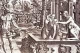 Jean Mignon (nach Lucca Penni): Die Verwandlung des Aktaion (16. Jahrhundert), Radierung