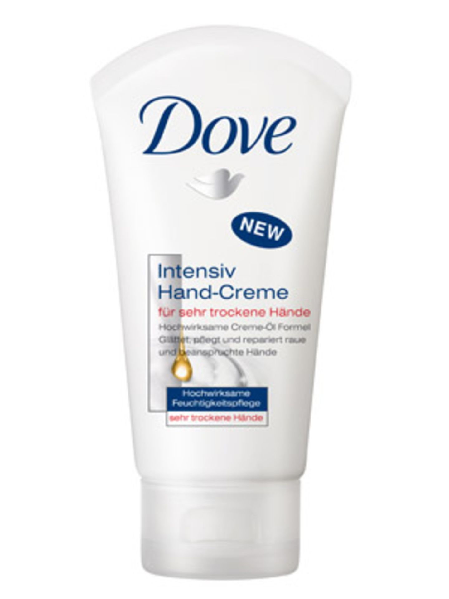 Intensiv-Handcreme von Dove für sehr trockene Hände. Ca. 2,50 Euro.
