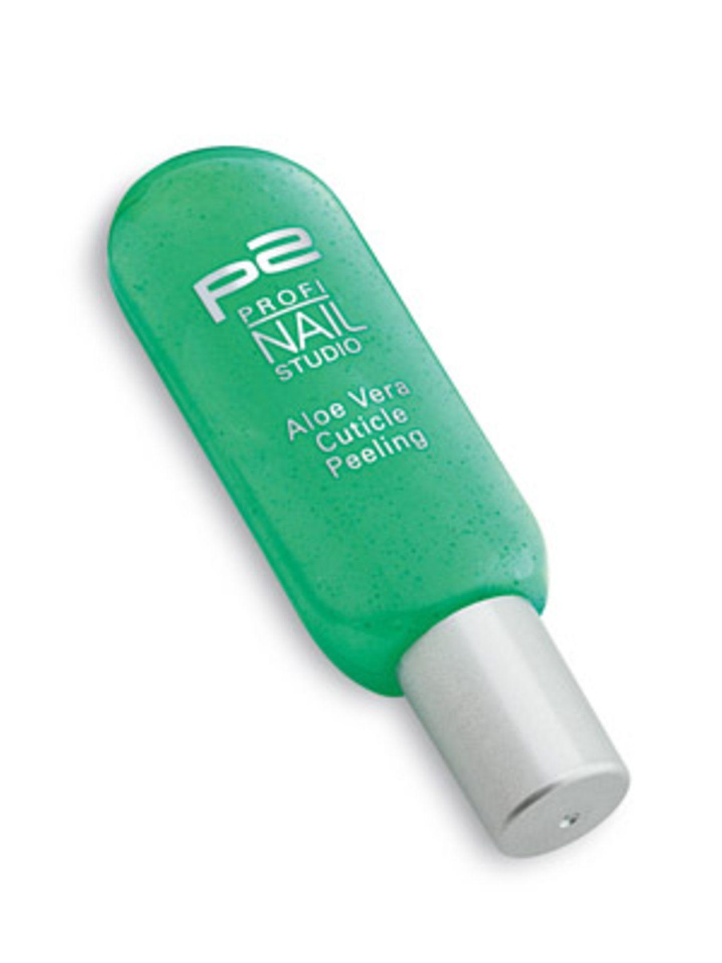 Nagelhaut-Peeling mit Aloe Vera von P2, um 2,50 Euro.
