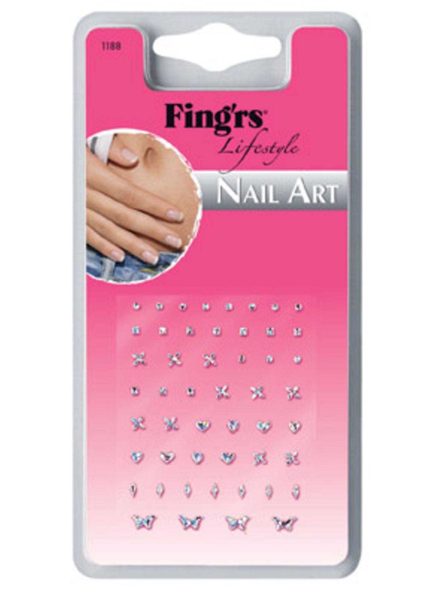 Glänzende Nagel-Sticker von Fing'rs, ca. 4 Euro.