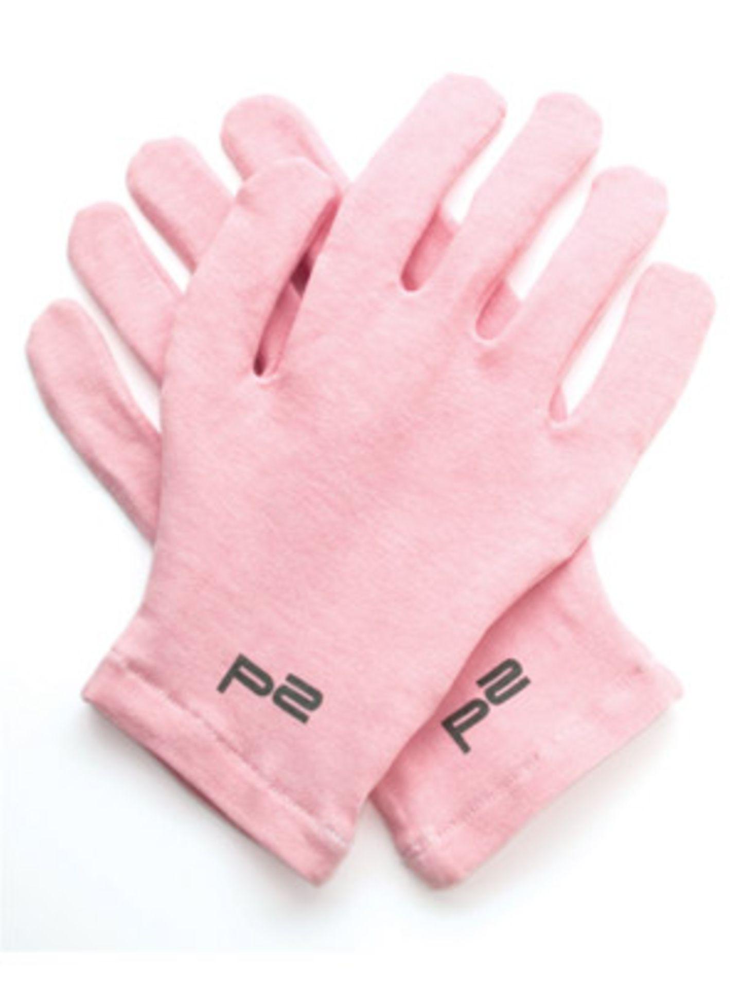 Handschuhe für extra weiche Hände im Schlaf von P2, um 2 Euro.