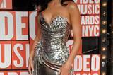 Katy Perry im Wonderwoman-Glitzer-Look.