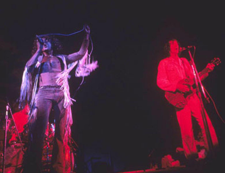 Auch The Who gaben sich die Ehre und zertrümmerten nach ihrem Auftritt stilecht ihre Gitarren.