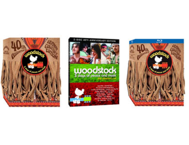 """Für eingefleischte Fans: Die """"Ultimate Collector's Edition"""" besteht aus vier DVDs mit nie zuvor gezeigten Bühnenauftritten, dem neu gemasterten, 4-stündigen Director's Cut, einem 60-seitigen Nachdruck des LIFE-Magazins, einem Woodstock-Motiv zum Aufbügeln, Festival-Andenken, einem 3-Tages-Festivalticket und vielem mehr. Pflicht für alle Woodstock-Liebhaber!"""