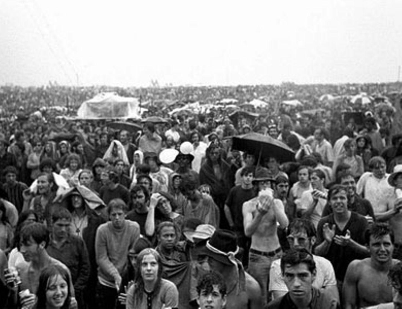 Mehr als 400.000 Besucher kamen zum Woodstock-Festival.