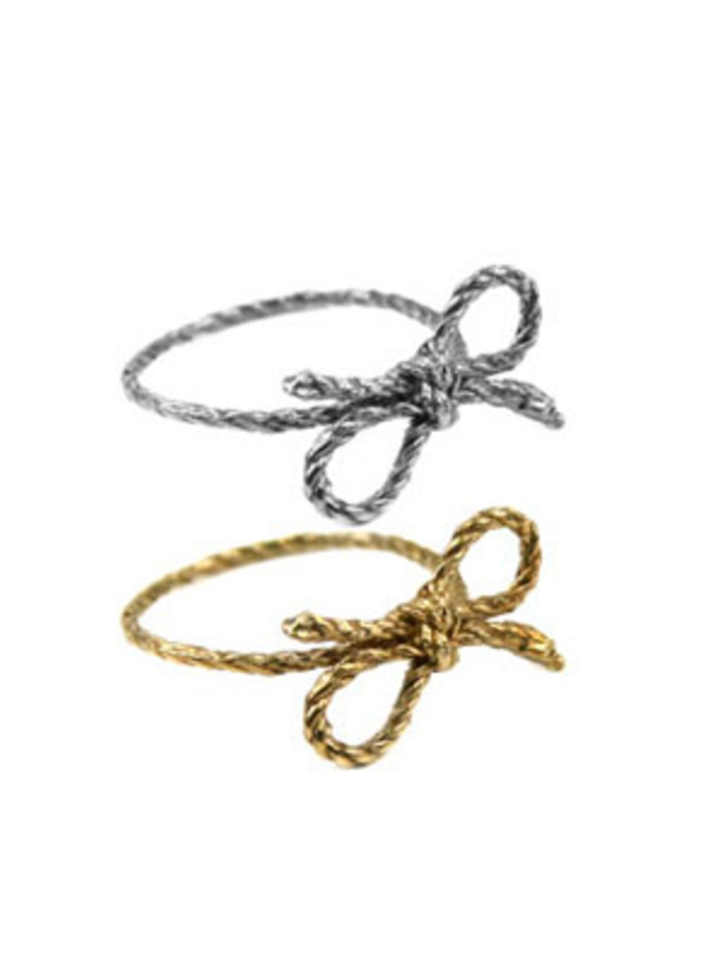 """Forget me Knot""-Ring in Silber oder Gold von www.fredflare.com, je um 50 Euro."