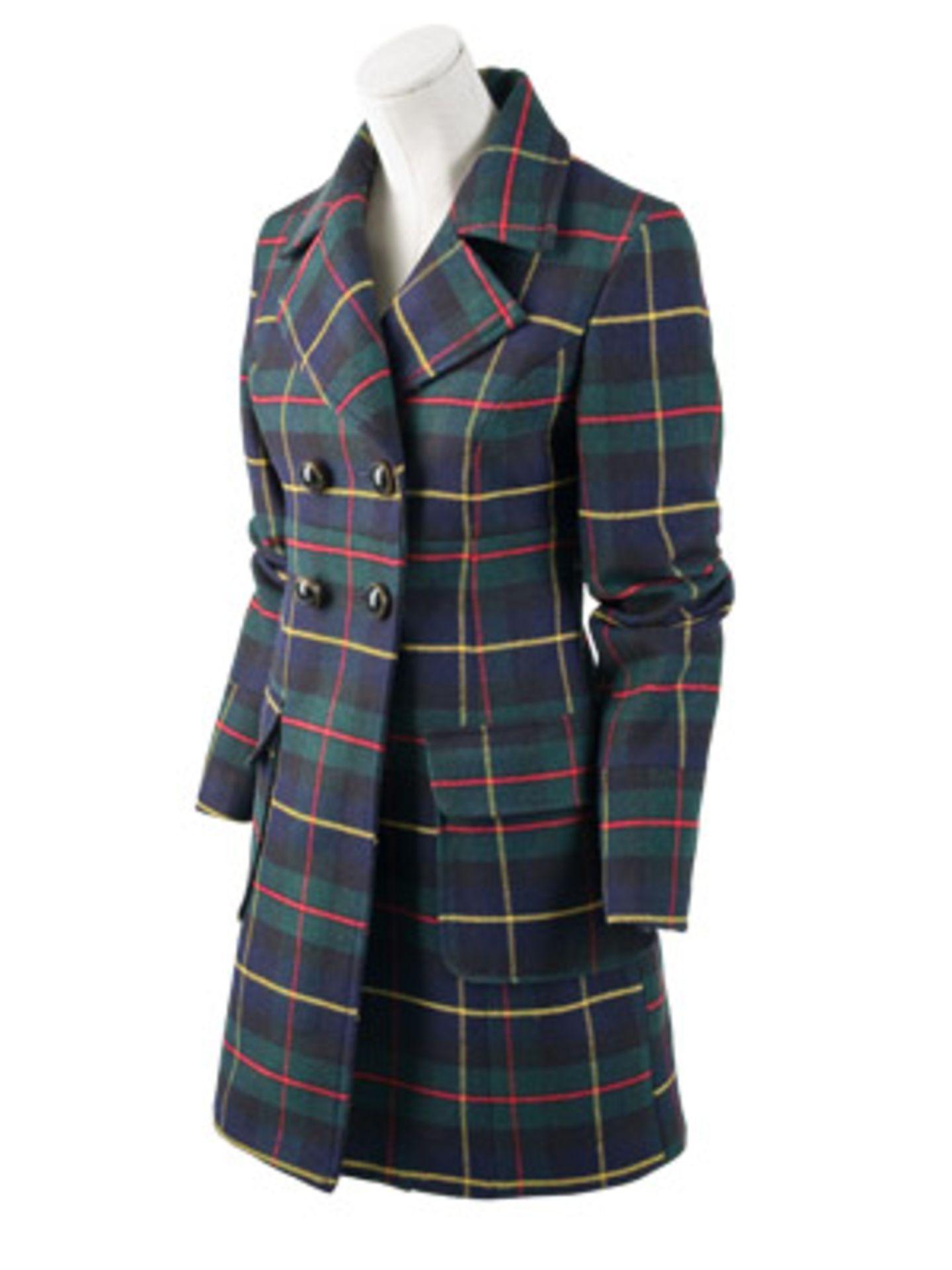 Karierter Zweireiher im englischen Stil von Zara, ca. 80 Euro.