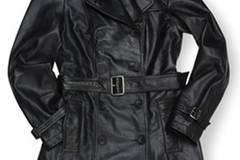 Schwarzer Mantel aus Nappa Leder; 149,90 Euro; von Orsay