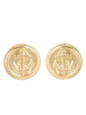 Goldene Ohrringe mit Anker-Motiv von www.pretaportobello.com, um 7 Euro.