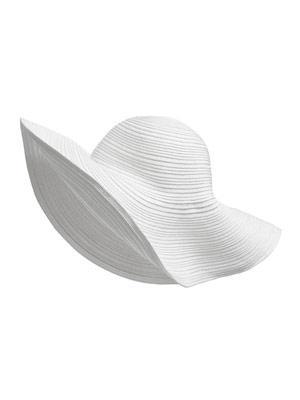 Strand- und Sonnenhut in sommerlichem Weiß von H&M, um 8 Euro.