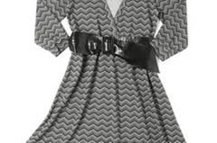 Kleid mit schwarzem Lackgürtel; 34,95 Euro; von New Yorker