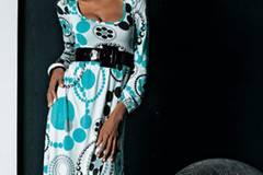 Bedrucktes Kleid in A-Linien Form, ab 29,99 Euro; von refashion by Otto