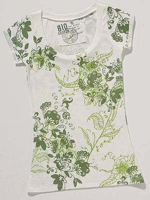 T-Shirt mit Muster; 9 Euro; von 100% Bio Cotton at C&A