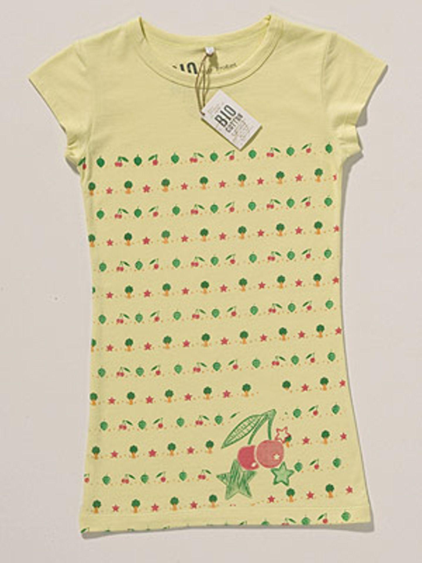 T-Shirt mit buntem Druck; 9 Euro; von 100% Bio Cotton at C&A