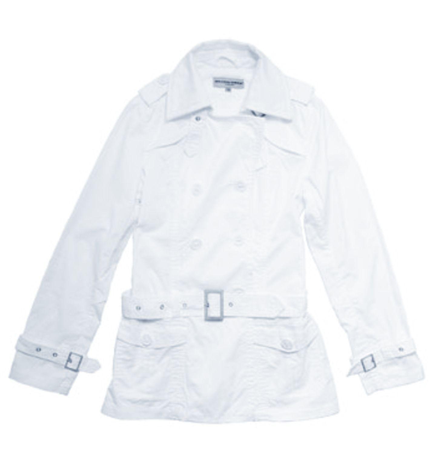 Weißer Trenchcoat; 39,95 Euro; von mister.lady