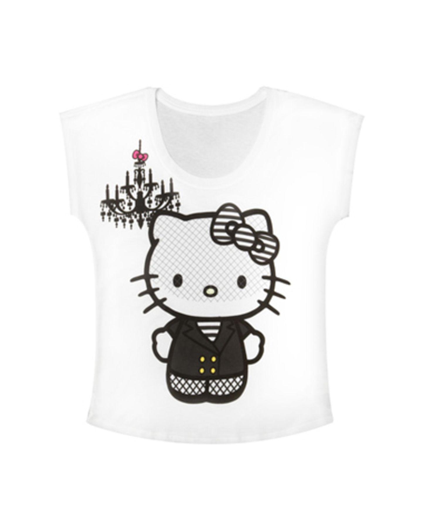 T-Shirt mit Hello Kitty-Print von Fredflare, um 24 Euro.