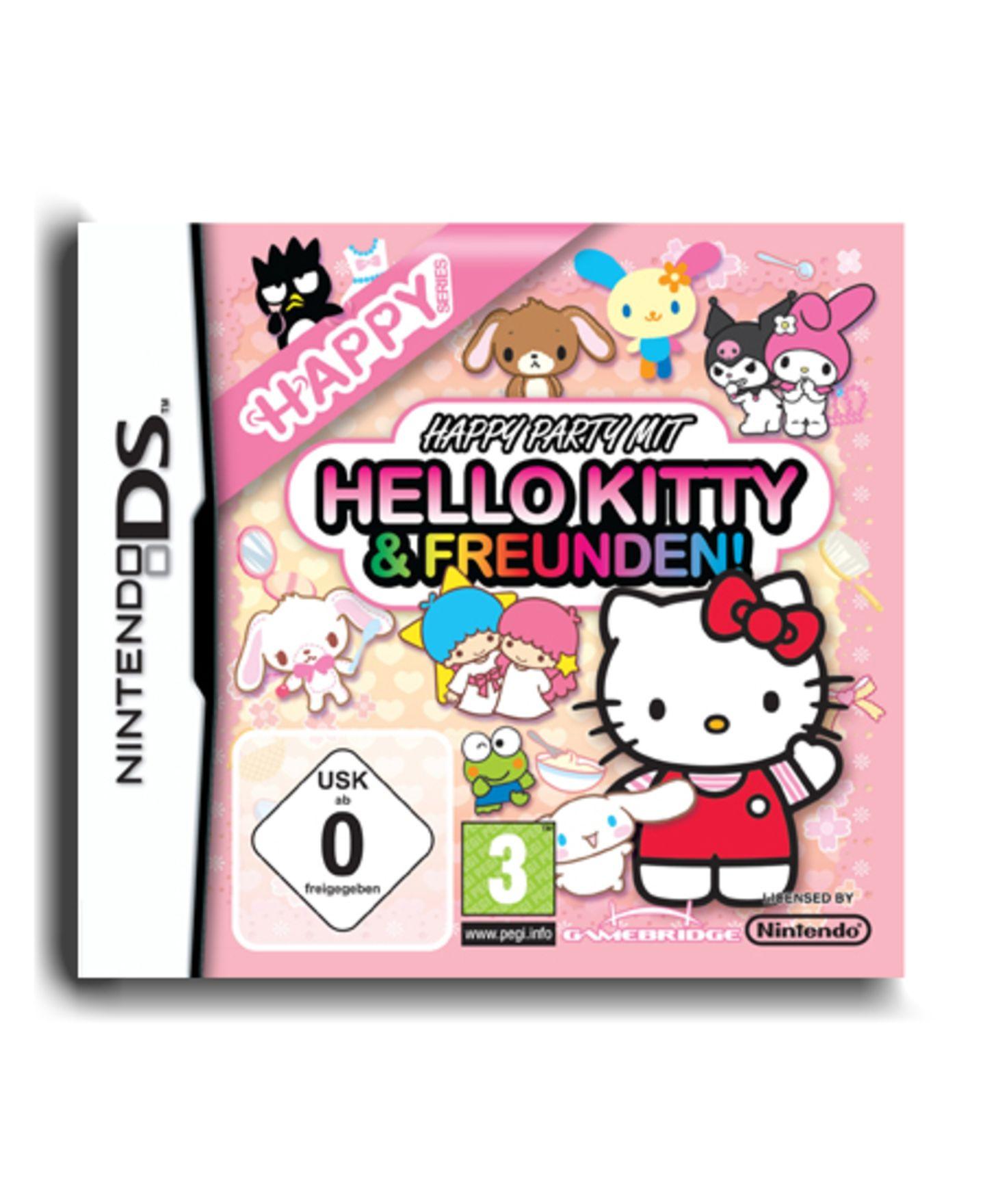 """""""Happy Party mit Hello Kitty und Freunden"""" für den Nintendo DS, um 40 Euro."""
