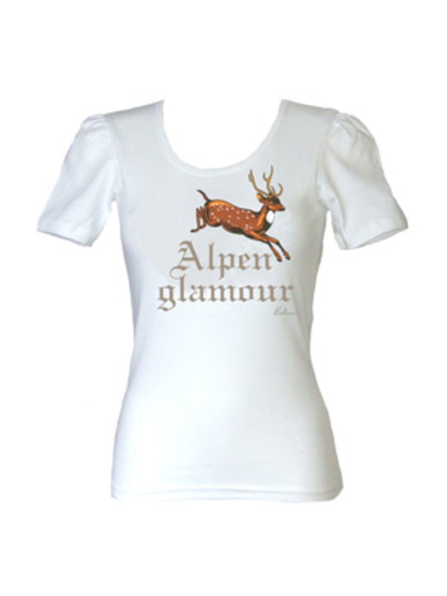 """Alpenglamour""-T-Shirt von Balbina, ca. 40 Euro. Über www.balbina-balbina.de."