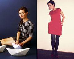 """Dotti von Dotti's DotsDotti wohnt mit Bubi im Märchenhaus in der Schweiz, liebt Punkte und verkauft ihre ausgewählten Vintagestücke in ihrem Onlineshop Dotti's Vintage. Ihr Herbsttrend: """"Hier seht ihr mein heutiges Outfitfoto in der angeblichen Herbst-Trendfarbe Rot. Für mich ist's zwar – das liebe Rot – insbesondere im Herbst, aber sonst eigentlich auch immer, nur ein Klassiker, der immer geht. Aber bitte sehr, wenn die feinen Damen und Herren in der Modeindustrie meinen..."""""""