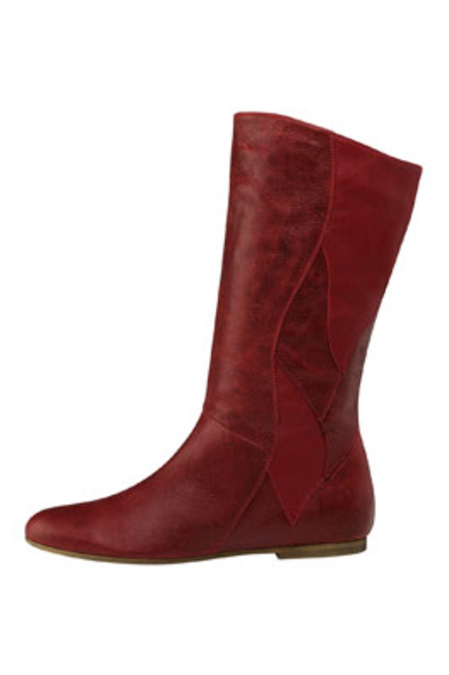 Rote Lederstiefel; 99,95 Euro; vom Akira über Görtz 17