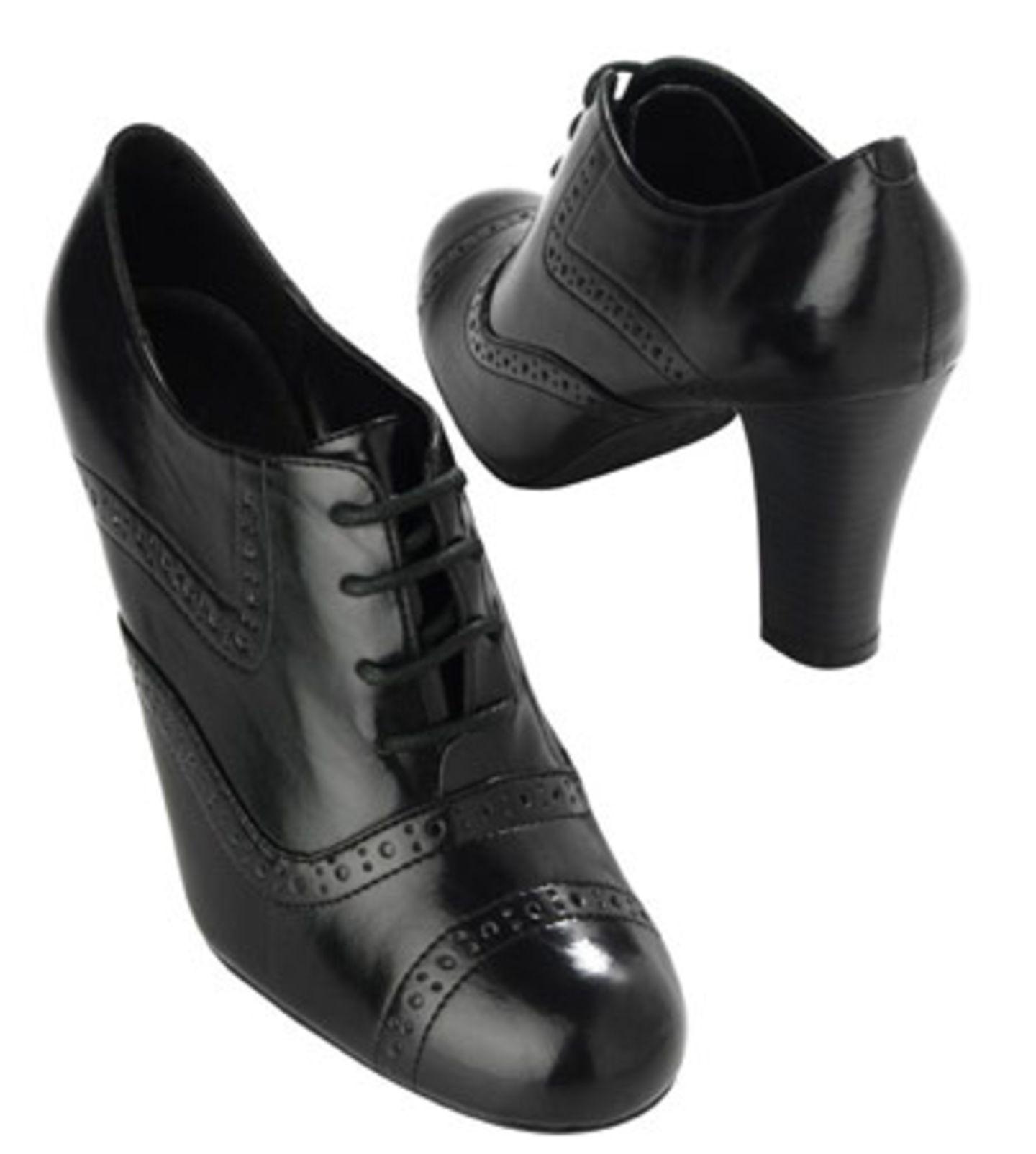 Schwarze Retro-Schnürschuhe; 34,90 Euro; von Promod