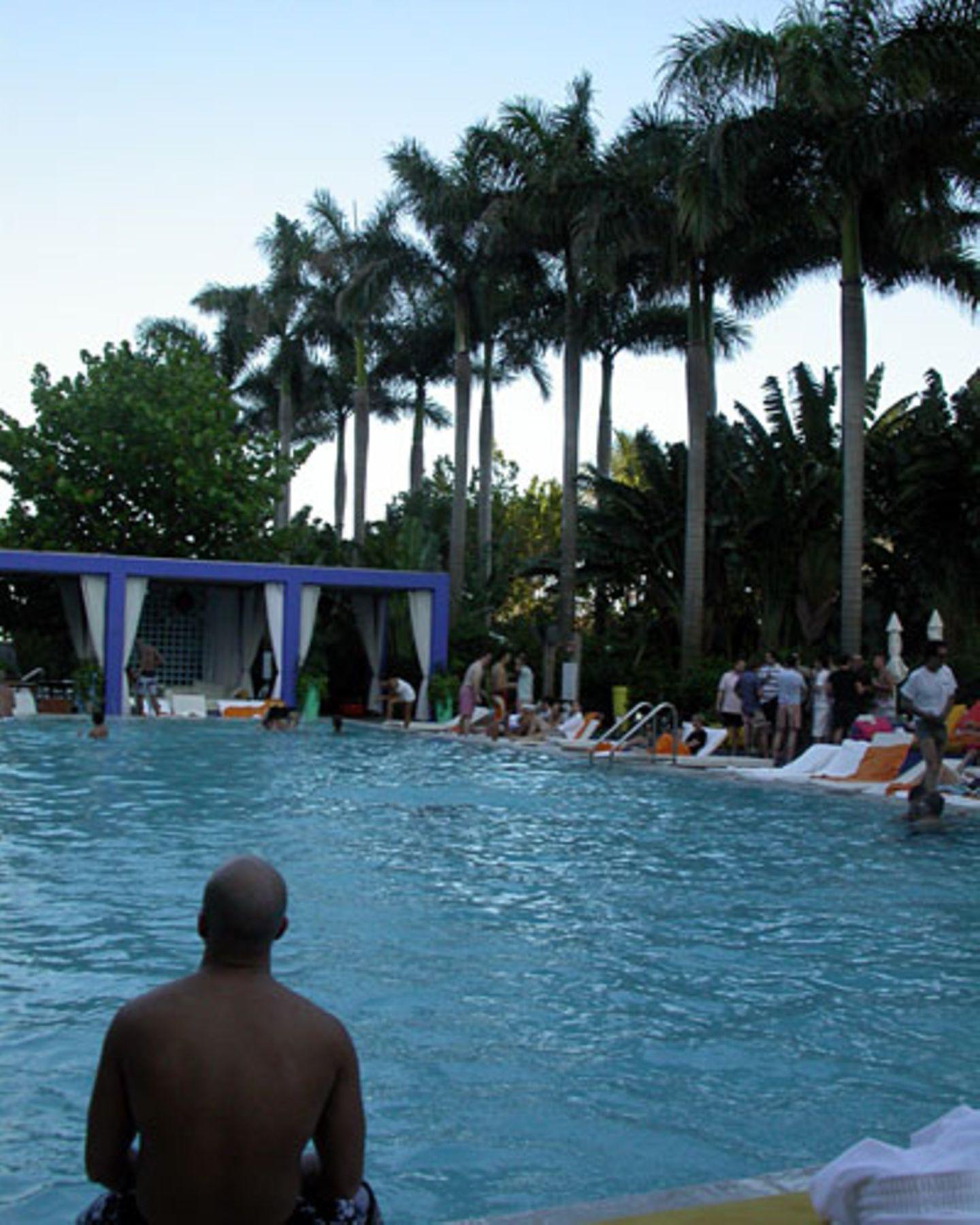 Partys wie im Werbespot: In Miami Beach feiert man gern am Pool. Hier in der Sky Bar des Shore Club Hotels.