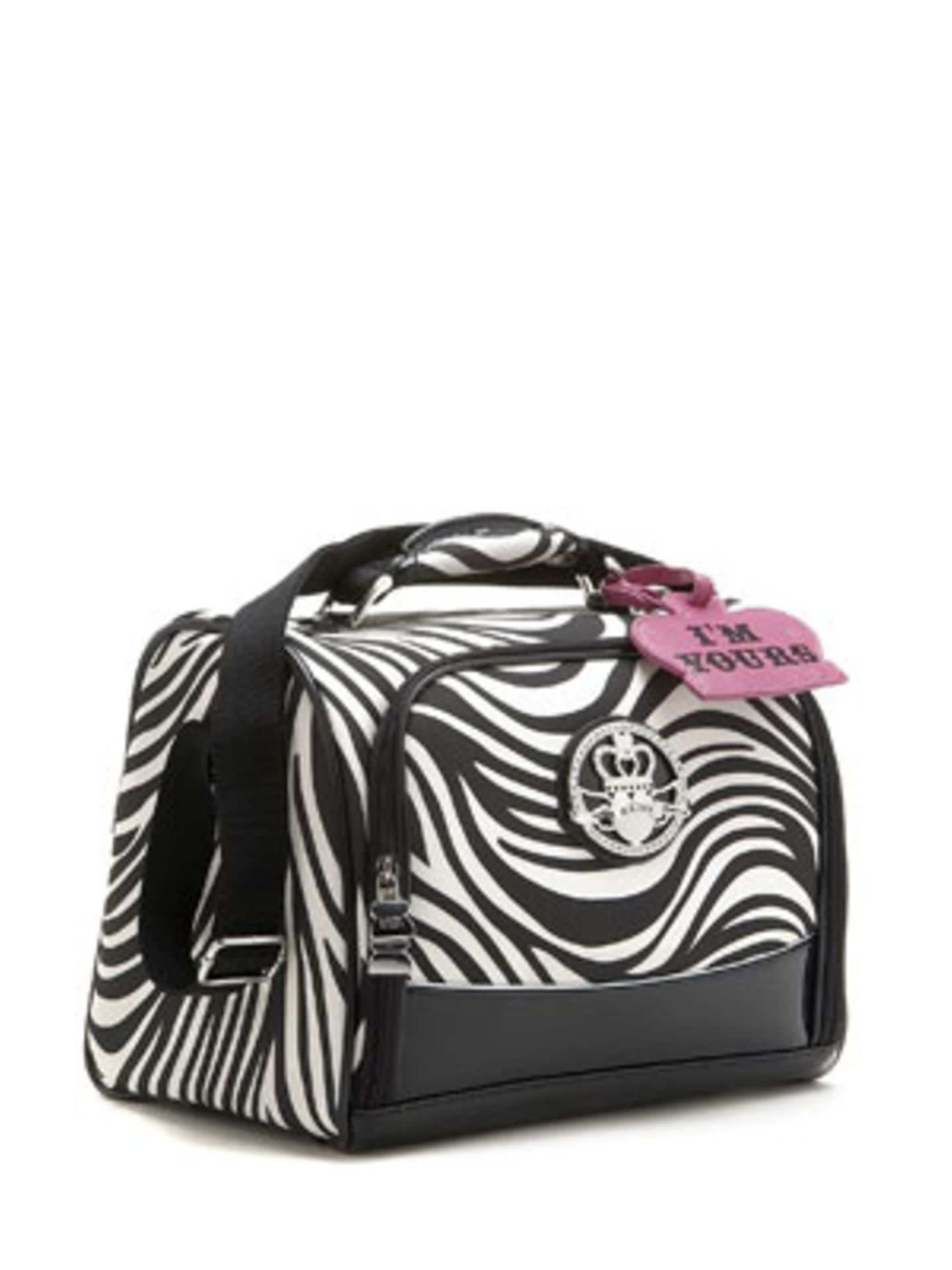 Praktisch - und passend zum Koffer - ist dieses Handgepäcksstück von Kathy van Zeeland. Um 80 Euro, über www.kathyvanzeeland.com.