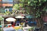 Straßencafés in Chumphon, Südthailand.