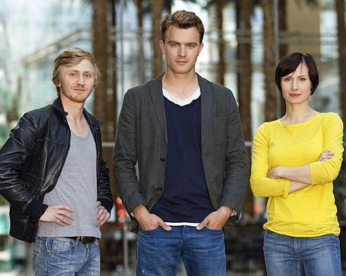 Benjamin Kramme, Friedrich Mücke und Alina Levshi