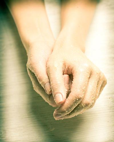 Abreibung für gepflegte Hände