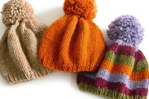 Pudelmütze stricken: Kopfarbeit für die Familie