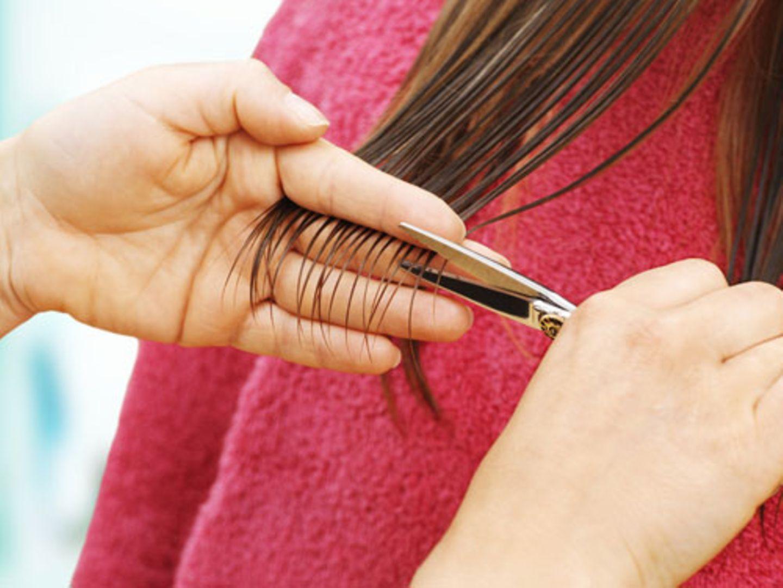 29. Häufiges Schneiden lässt Haare kräftiger werden - stimmt das?