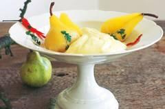 Eine himmlische Verbindung: weich und süß und ein kleines bisschen scharf. Zum Rezept: Kartoffelpüree mit Chili-Birnen