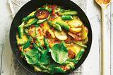 Bauernfrühstück von neuen Kartoffeln