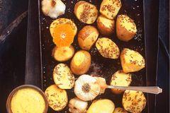 Blechkartoffeln mit Orangen
