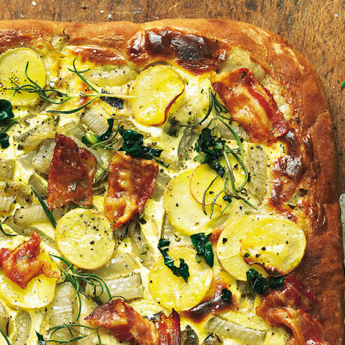 Kastanien-Pizza mit Mangold